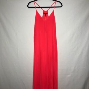 Victoria's Secret Hot Pink Pleated Maxi Dress